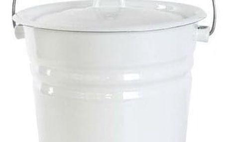Toro Smaltované vědro s víkem 12 litrů, bílá