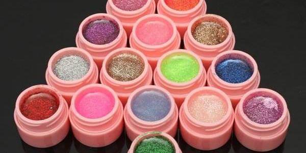 Sada barevných gelů na nehty - 16 kusů - dodání do 2 dnů