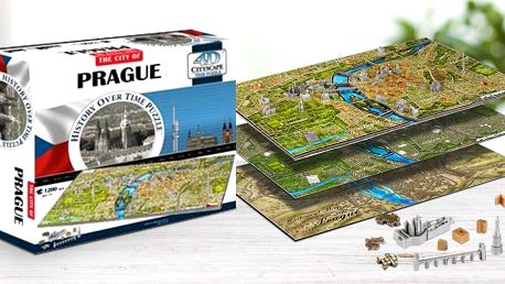4D puzzle Prahy a dalších světových velkoměst
