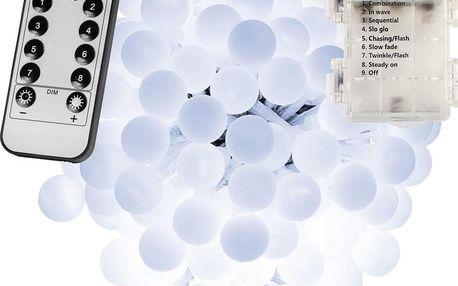 VOLTRONIC® Párty osvětlení - 5 m, 50 LED diod, studeně bílé, na baterie