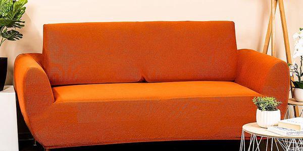 4Home Multielastický potah na dvojkřeslo Comfort terracotta, 140 - 180 cm4