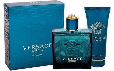 Versace Eros dárková kazeta pro muže toaletní voda 100ml + sprchový gel 100 ml