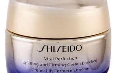 Shiseido Vital Perfection Uplifting and Firming Cream Enriched 50 ml protistárnoucí liftingový krém pro suchou pleť pro ženy