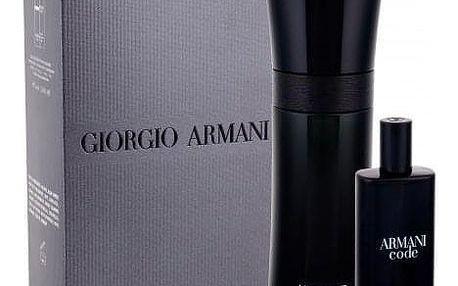 Giorgio Armani Armani Code Pour Homme dárková kazeta pro muže toaletní voda 75 ml + toaletní voda 15 ml