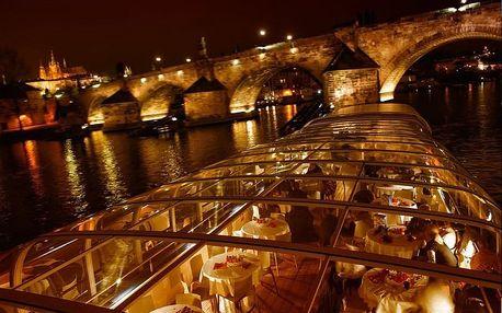 3hodinová plavba po Vltavě s degustačním menu od Prague Boats