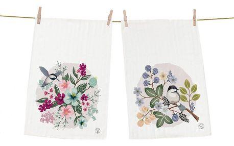 Butter Kings Kuchyňská utěrka Spring theme, 50 x 70 cm, sada 2 ks