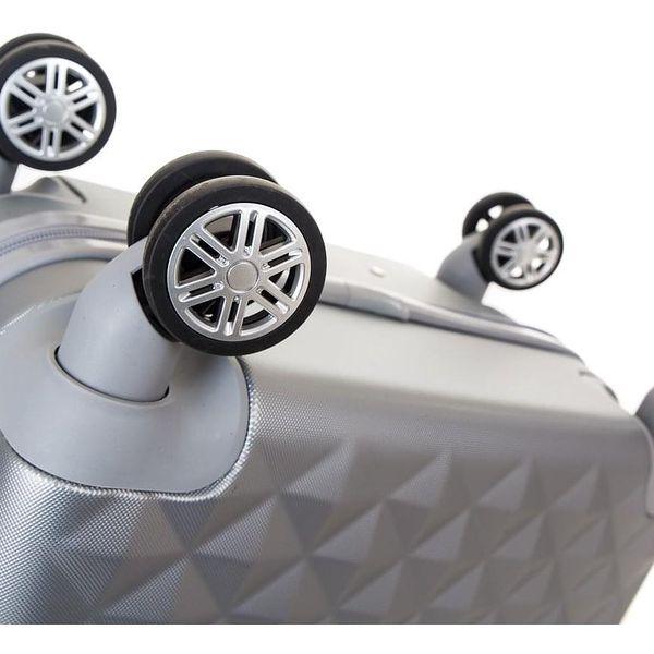 Pretty UP Cestovní skořepinový kufr ABS21 L, šedá2