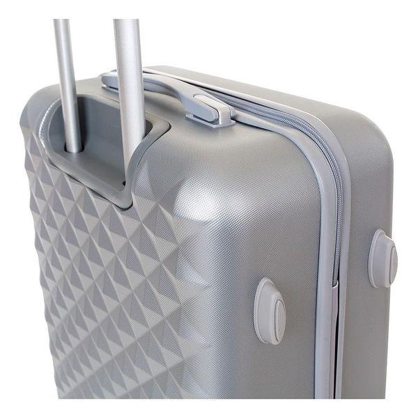 Pretty UP Cestovní skořepinový kufr ABS21 L, šedá3