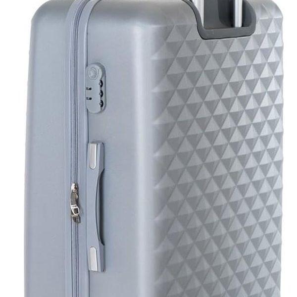 Pretty UP Cestovní skořepinový kufr ABS21 L, šedá5