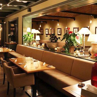 3chodové menu s víny v Grand Cru