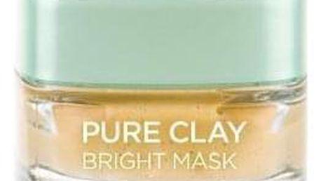 L´Oréal Paris Pure Clay Bright Mask 50 ml vyhlazující pleťová maska pro ženy