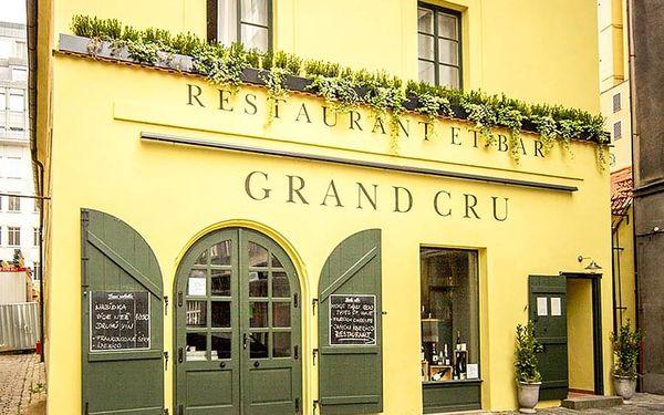 3chodové menu s víny v Grand Cru | Praha | Celoročně. | Záleží na vás.3
