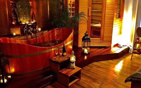 2 h privátního relaxu: vířivá vana, infrasauna i sekt