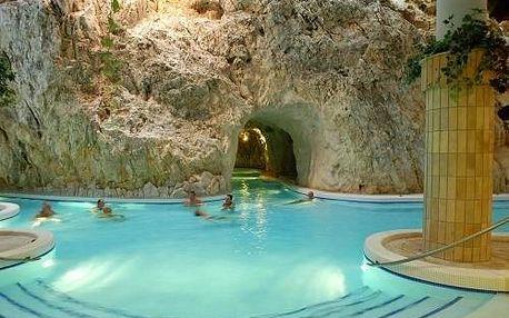 Víkend v hotelu hned vedle jeskynních lázní Miskolctapolca