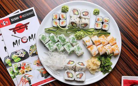 Bohaté sushi sety s 32 nebo 48 kusy v restauraci Miomi Sushi