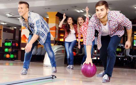 1 nebo 2 hodiny bowlingu až pro 8 osob