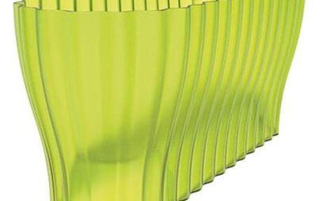 Nohel Garden Truhlík TRIOLA ORCHID plastový transparentní zelený 38 cm