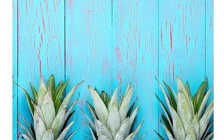 CARBOTEX Plážová osuška Ananas Blue, 70 x 140 cm