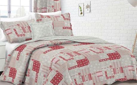 Dakls přehoz na postel Country stil růžová, 230 x 250 cm