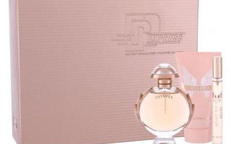 Paco Rabanne Olympéa dárková kazeta pro ženy parfémovaná voda 50 ml + tělové mléko 75 ml + parfémovaná voda 10 ml