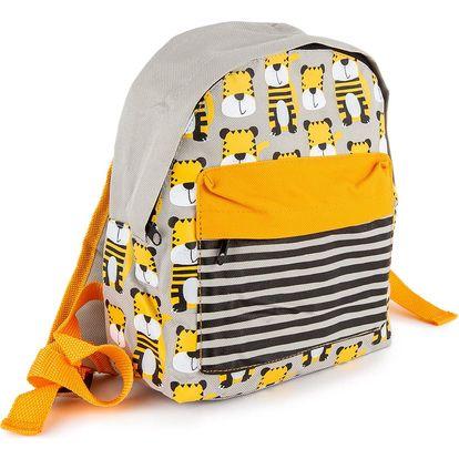 Dětský batoh Tygřík žlutá, 21 x 11 x 27 cm