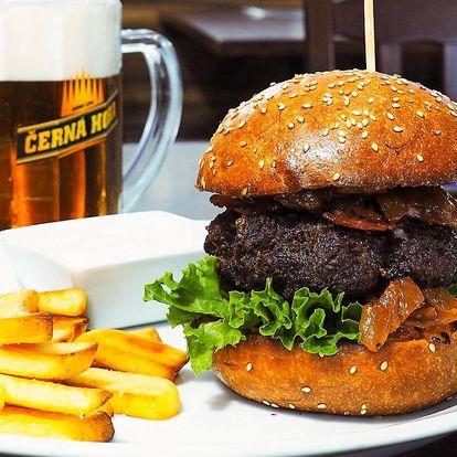 Wall Street Burger s hranolky na Pivní burze