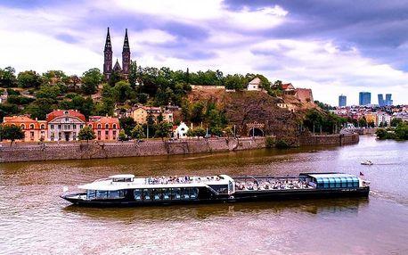 3hodinová plavba po Vltavě na prosklené lodi od Prague Boats