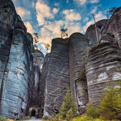 Pobyt u Adršpašsko-teplických skal se snídaní