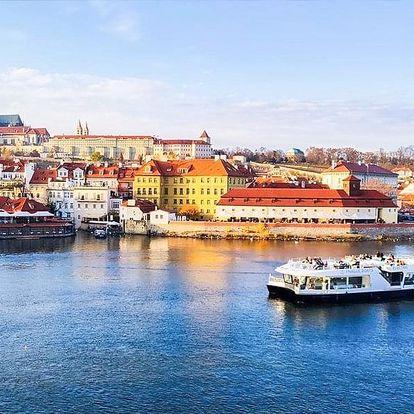 50minutová plavba lodí po Vltavě na ekologické lodi od Prague Boats