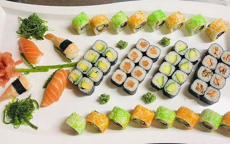 24–52 ks sushi: losos, úhoř, chřest, krab i vege