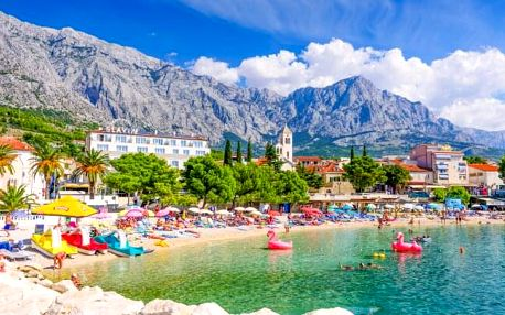 Chorvatsko: Baška Voda jen 350 m od moře v Penzionu Radič s českým delegátem + možnost dopravy a polopenze