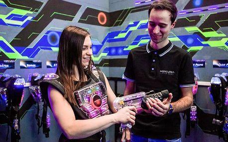 Laser game pro až 10 hráčů v Mercuria Laser Game Praha v Braníku nebo Holešovicích