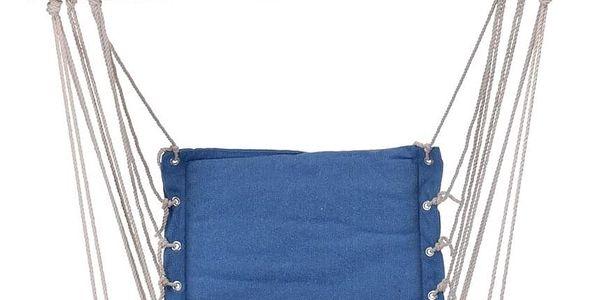 Závěsné houpací křeslo Comfortable modrá, 100 x 53 cm