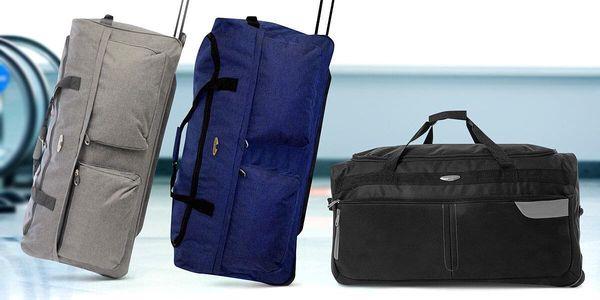 Nepromokavé cestovní tašky na kolečkách