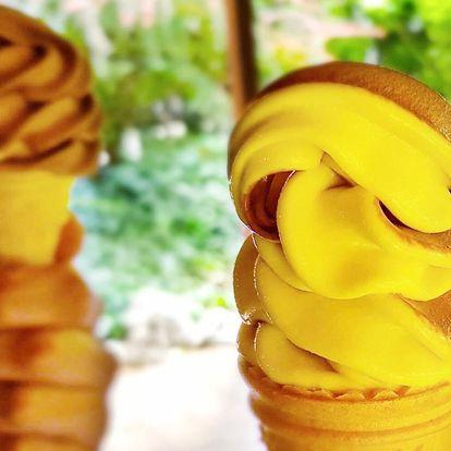 1 nebo 2 velké točené zmrzliny