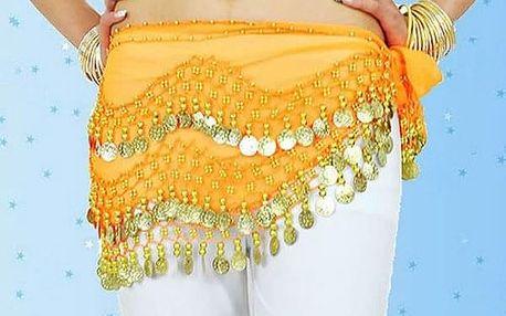 Šátek na břišní tance - 11 barev