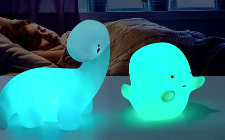 Dětská LED lampička: duch i jednorožec