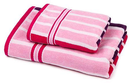 Jahu Sada Stripes Sweet ručník a osuška, 70 x 140 cm, 50 x 90 cm