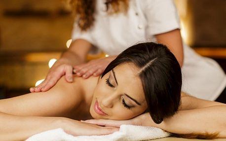 Thajská olejová masáž nebo relaxační zad a šíje