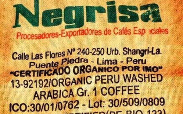 450 g balení čerstvě mleté zelené kávy Peru Negrisa Organic 100% arabica3