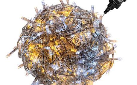 VOLTRONIC® 67595 Vánoční řetěz - 20 m, 200 LED, teple/studeně bílý