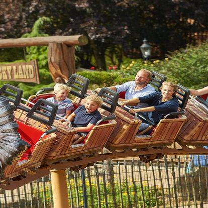 Srpnový den v zábavním parku Heide Park v Německu včetně vstupenky