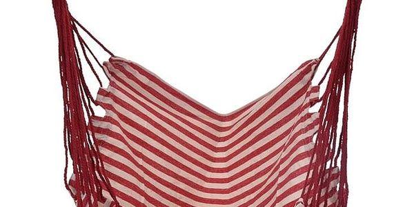 Závěsné houpací křeslo Indian seat červená, 100 x 100 cm