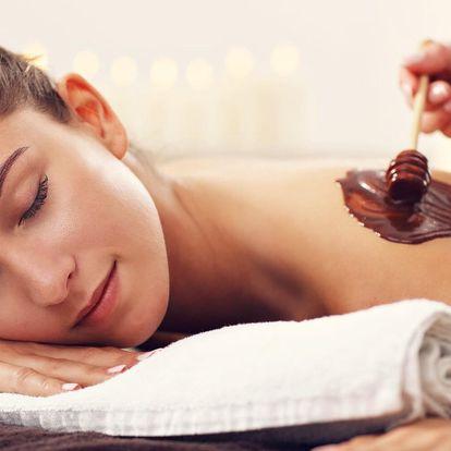 Výběr ze 4 druhů masáží: čokoládová či těhotenská