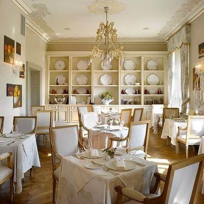 Luxusní večeře v restauraci Piano Nobile