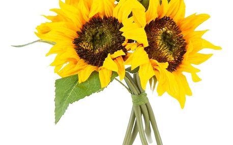 Umělá květina svazek Slunečnice žlutá, 26 cm
