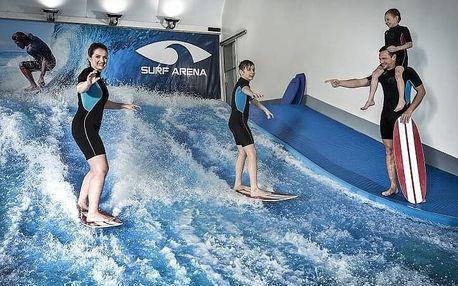 Rodinný indoor surfing