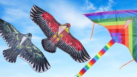 Velcí létající draci: barevný, motýl či orel