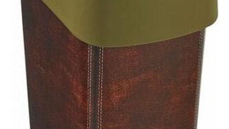 Curver Odpadkový koš FLIP BIN 25 l, motiv kůže