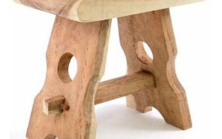 DIVERO 40748 Masivní stolička z mungurového dřeva - ruční práce
